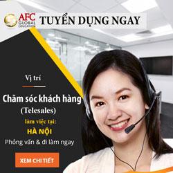 Tuyển dụng nhân viên Chăm sóc khách hàng (HN)