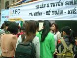 AFC phối hợp CLB Nguồn Nhân Lực Đại học Ngoại Thương tổ chức tư vấn & tuyển sinh tại hội chợ ″Siêu Thị Việc Làm″