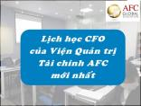 Lớp Giám đốc tài chính (CFO) sẽ bắt đầu lại trong tháng 5