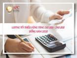 Lương tối thiểu vùng tăng 150.000 - 240.000 đồng năm 2020