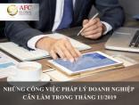 Những công việc pháp lý doanh nghiệp cần làm trong tháng 11/2019