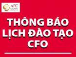 Thông báo lịch khai giảng lớp Giám đốc Tài chính CFO tại Hà Nội & TP. HCM